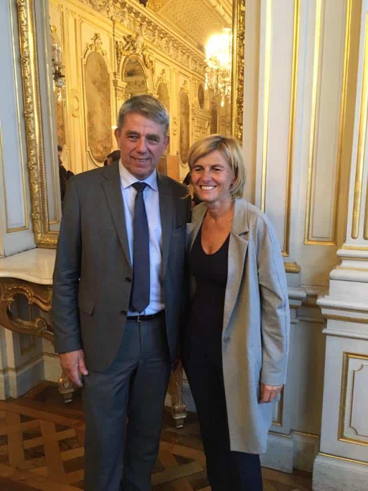 Michel Savin et Frédérique Puissat, sénateurs LR de l'Isère. © Michel Savin
