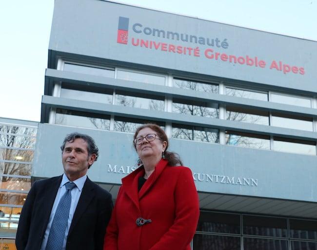 Patrick Lévy, ex-président de la Comue aujourd'hui président de l'UGA et Lise Dumasy, ex-UGA et désormais à la tête de la Communauté université Grenoble Alpes