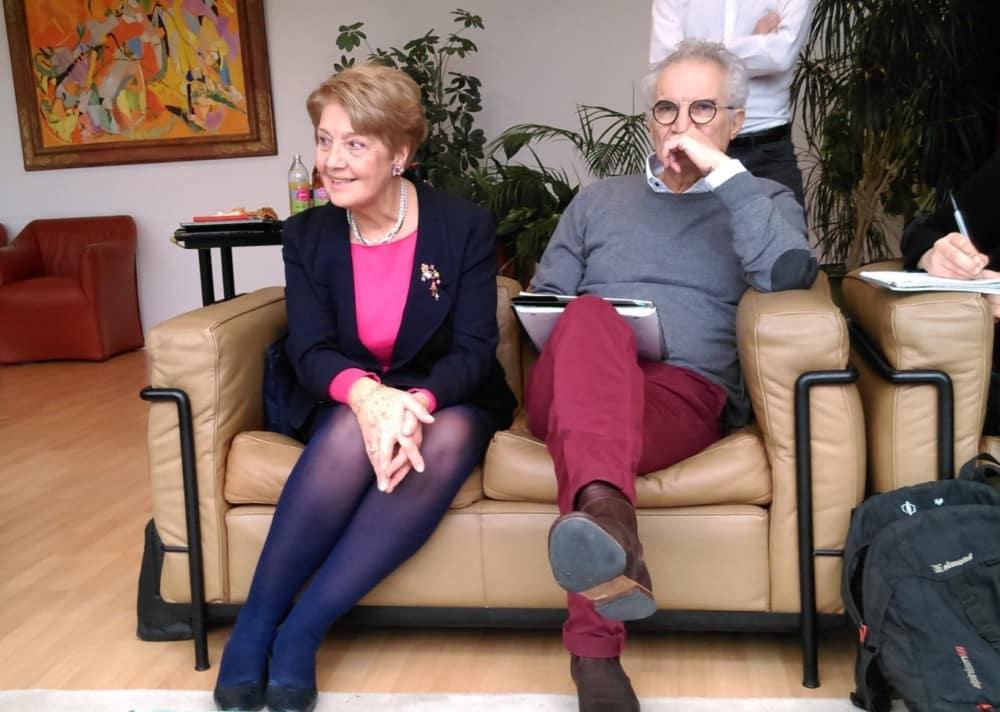 Marie-Noëlle Pinel et Luc Verona, présidente et vice-président de France Bénévolat Grenoble Isère -© Florent Mathieu - Place Gre'net