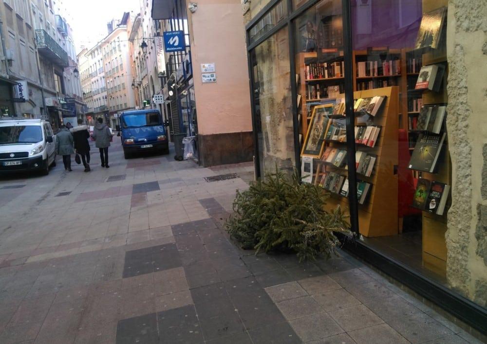 Le dépôt de sapins sur la voie publique est interdit. © Florent Mathieu - Place Gre'net