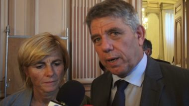 Michel Savin et Frédérique Puissat, sénateurs LR de l'Isère. © Joël Kermabon - Place Gre'net