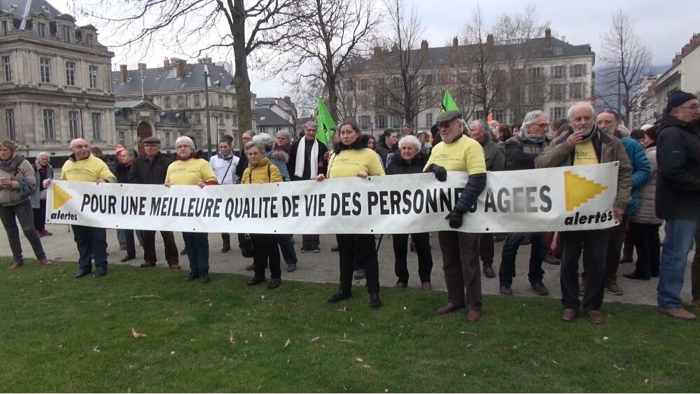 Manifestation des Ehpad le 30 janvier 2018 © Joël Kermabon - Place Gre'net