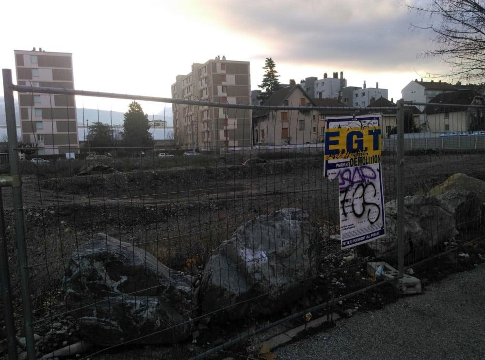 """Le """"chantier Galtier"""" à Grenoble, côté Chemin Meney © Florent Mathieu - Place Gre'net"""