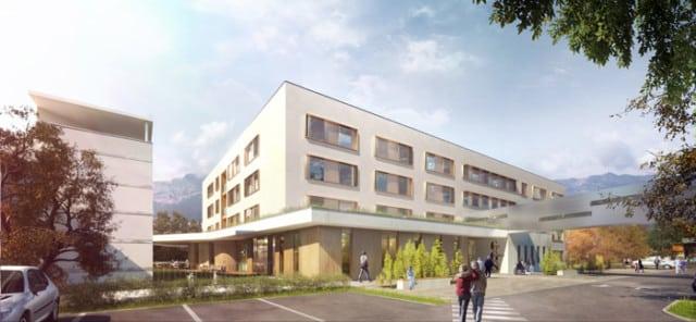 Le Centre hospitalier universitaire Grenoble Alpes (Chuga) a inauguré son nouveau Centre de Gérontologie Sud (CGS), vendredi 19 janvier, à Échirolles.