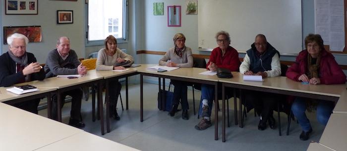 Membres du collectif Migrants en Isère, qui rassemble 16 associations d'accompagnement et de défense des droits des étrangers. © Juliette Oriot - Placegrenet.fr