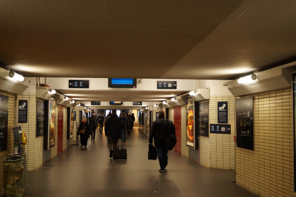 Intérieur de la Gare de Grenoble. © Léa Raymond - Place Gre'net