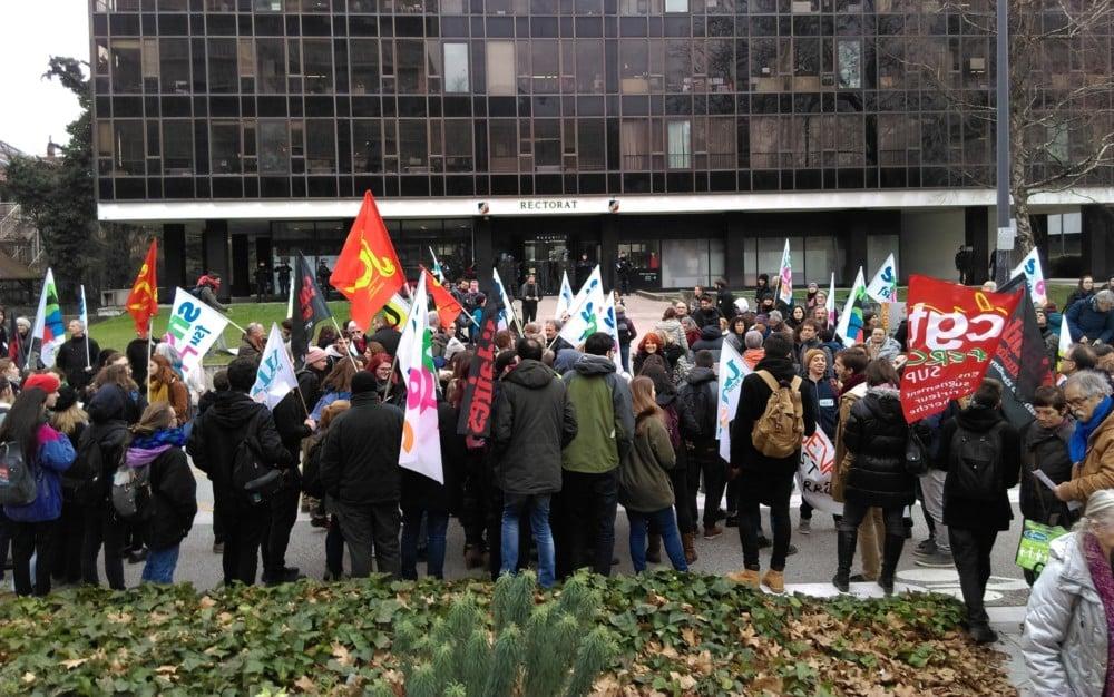 Manifestation contre la plan étudiant Loi Vidal Grenoble 6 février 2018 © Florent Mathieu - Place Gre'net