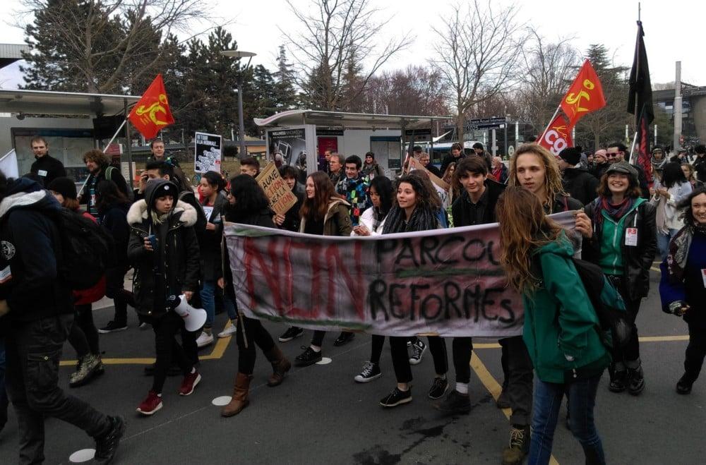 Manifestation contre la Plan étudiant, Grenoble le 6 février 2018 © Florent Mathieu - Place Gre'net