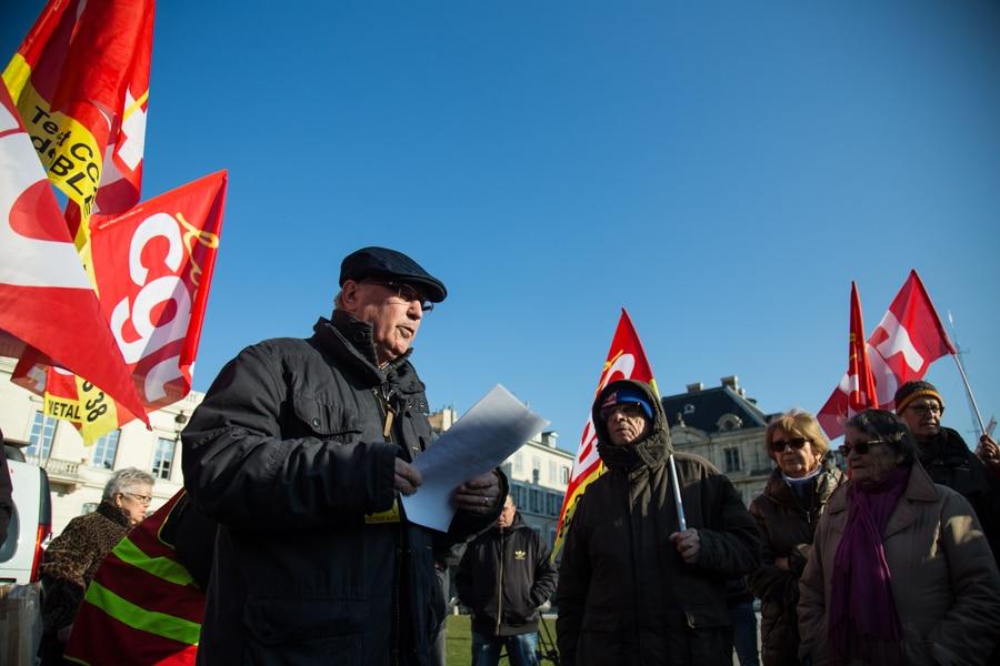 Rassemblement des retraités contre la hausse de la CSG. 9 février 2018. © Yuliya Ruzhechka - Place Gre'net