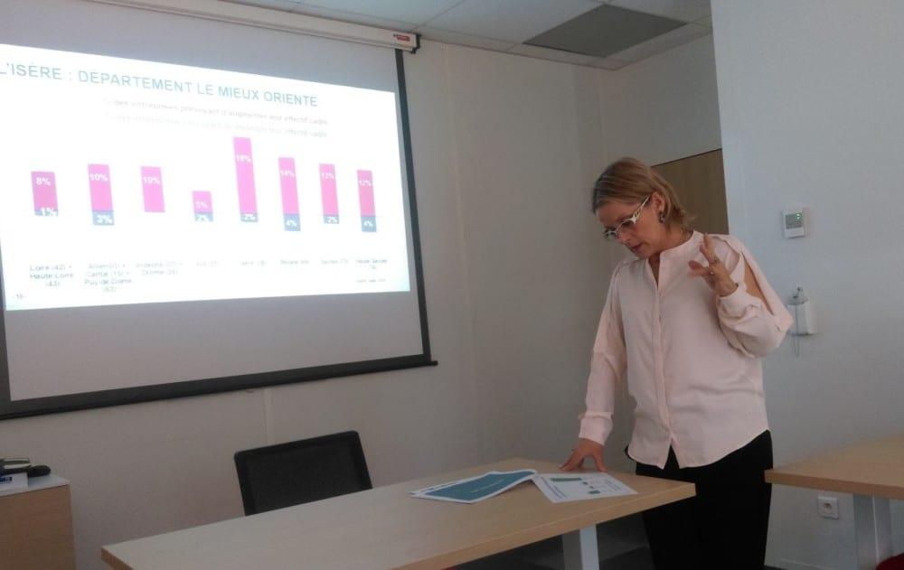 Patricia Ozil, responsable de centre auprès de l'Apec © Florent Mathieu - Place Gre'net