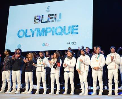 Les médaillés olympiques français des JO de PyeongChang à Grenoble. © Laurent Genin