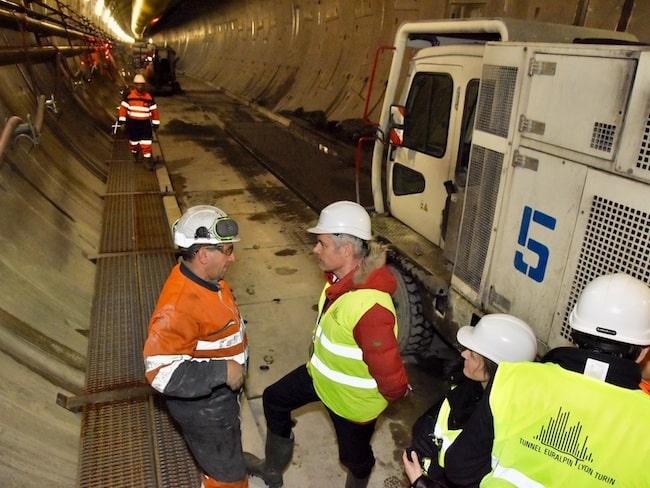 Laurent Wauquiez sur le chantier du Lyon-Turin le 26 février 2018 © Michel Peres - Région Auvergne Rhône-Alpes