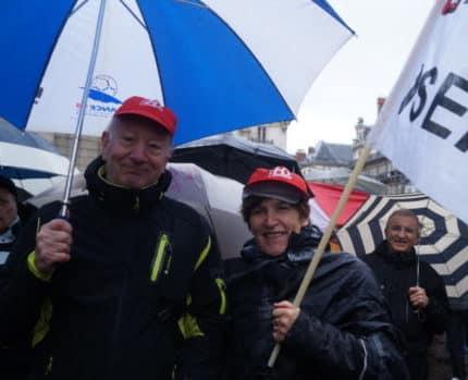 Manifestants lors de la manifestation des retraités 15 Mars 2018. © Léa Raymond - placegrenet.fr