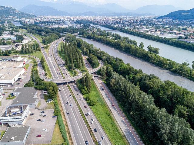 Le réaménagement de l'A480 va t-elle menacer le boisement des rives du Drac © Area