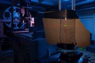 ID19, ligne de lumière longue (150m) de l'ESRF, dédiée aux techniques d'imagerie en faisceau parallèle, et majoritairement à la microtomographie. © ESRF/Pascal Goetgheluck