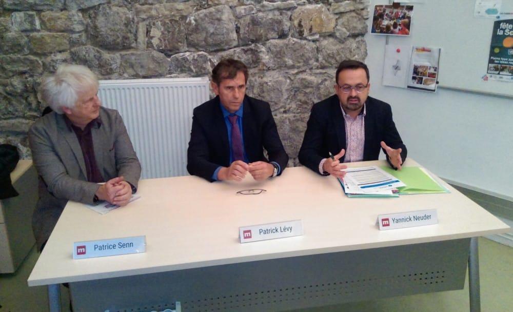 Patrice Senn, Patrick Lévy et Yannick Neuder © Florent Mathieu - Place Gre'net