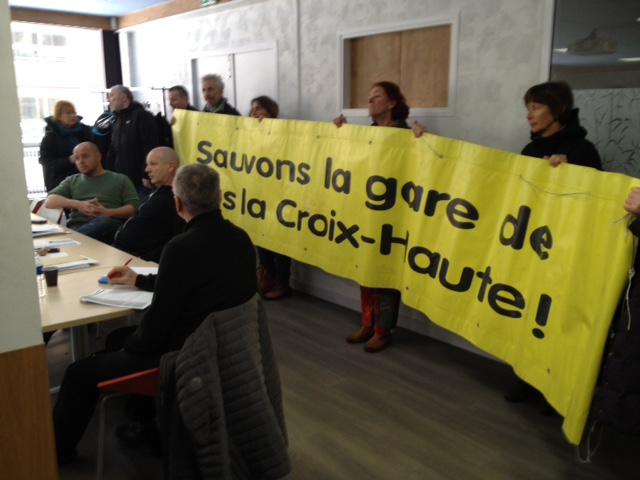 Le Collectif de l'étoile ferroviaire de Veynes n'a de cesse de défendre la ligne Grenoble-Gap © Seau