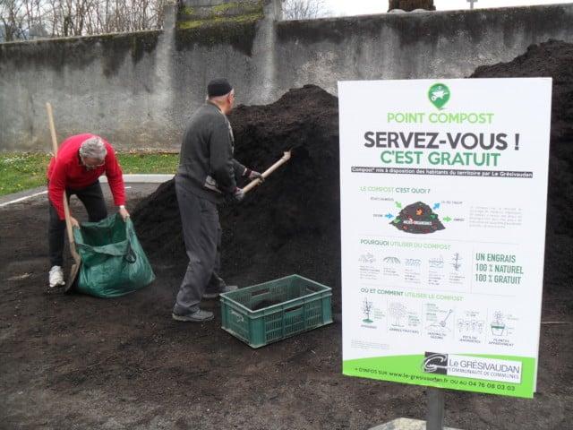 Le Grésivaudan compte parmi les collectivités à distribuer gratuitement du compost © Le Grésivaudan.