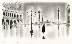 Une des illustrations du Venise de Casanova par le dessinateur François Avril. ©François Avril