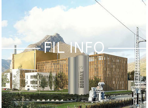 Biomax, centrale biomasse, implantée sur le site de la CEA, et raccordée au réseau urbain de chaleur de la Métropole grenobloise en 2020. DR
