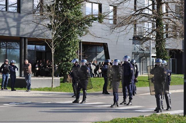 Les manifestations durant le colloque Frontex a été l'objet d'une riposte policière © Giovanna Crippa- Place Gre'net