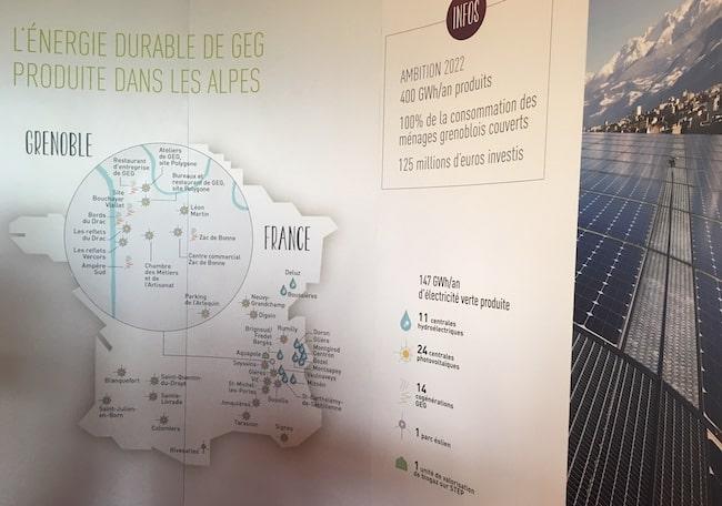 Aujourd'hui, GEG vante une énergie principalement produite dans les Alpes grâce aux centrales hydroélectriques. Mais demain ? L'éolien devrait représenter plus de la moitié de la production. Et les éoliennes ne se dessinent pour l'heure pas dans les Alpes
