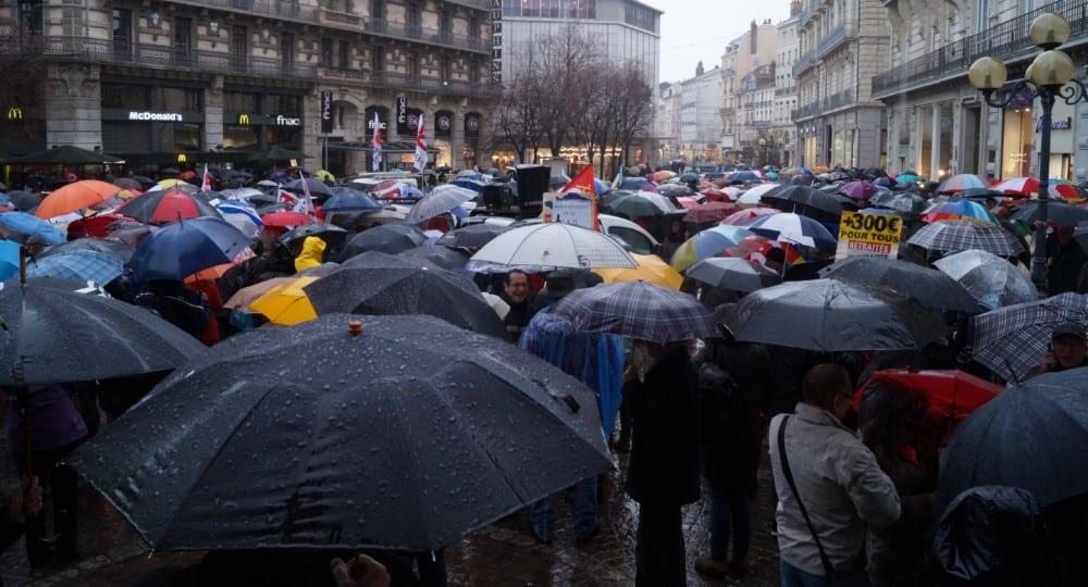 Manifestation des retraités 15 Mars 2018. © Léa Raymond - placegrenet.fr