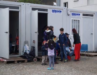 Migrants logés dans Agecos, sur le Cours de la Libération, à Grenoble. © Léa Raymond - placegrenet.fr