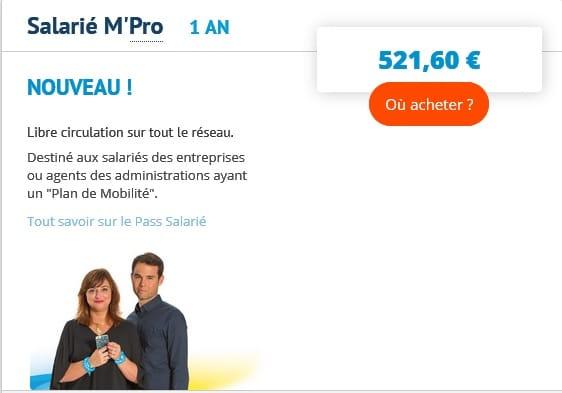 """Les """"salariés M'Pro"""" bénéficient d'un tarif annuel préférentiel sur le réseau Tag. DR"""