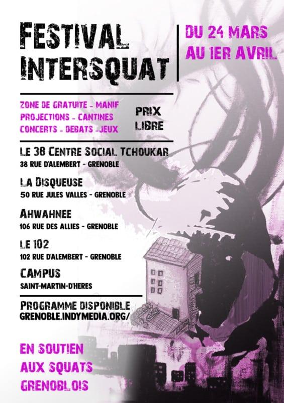 Affiche du festival Intersquat de Grenoble