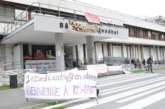 Blocage de l'université Stendhal © Giovanna Crippa- Place Gre'net