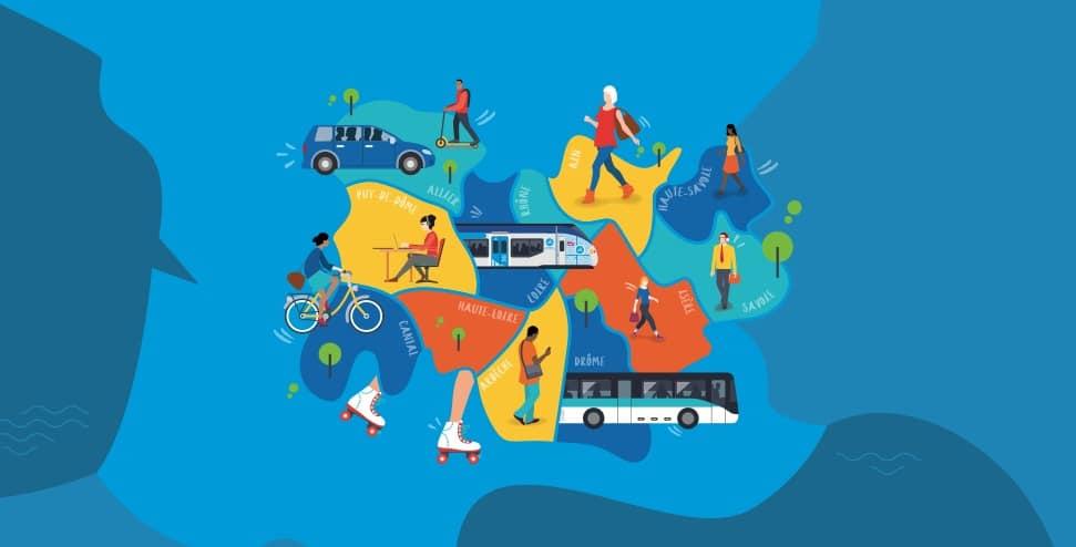Visuel Challenge mobilité régional © Conseil régional Auvergne-Rhône-Alpes