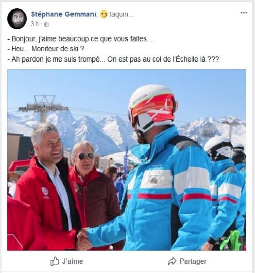 """""""Taquin"""", Stéphane Gemmani n'oublie pas de se payer la tête de Laurent Wauquiez sur son compte Facebook © Stéphane Gemmani"""