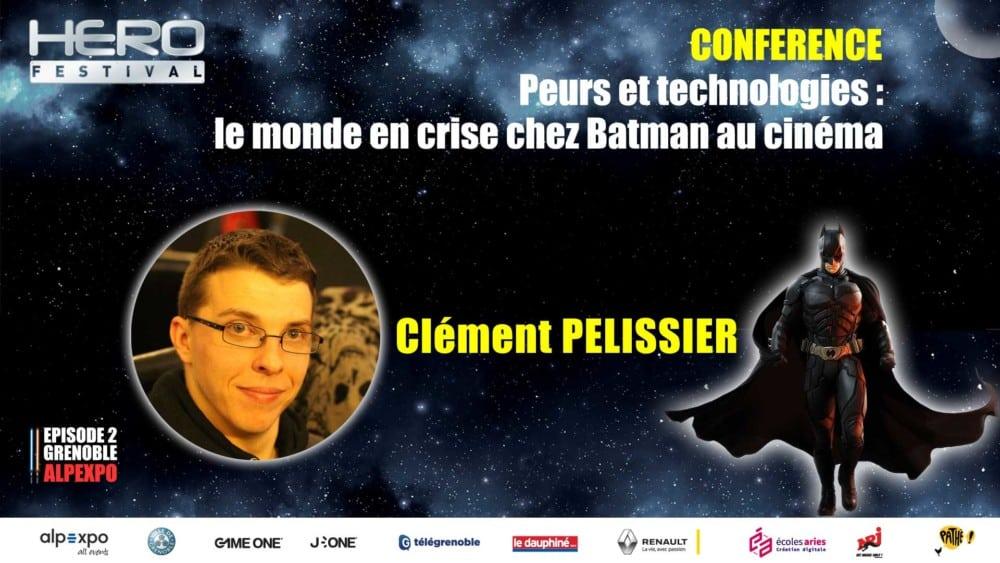 Le monde en crise chez Batman au cinéma, conférence du doctorant grenoblois Clément Pelissier © Hero Festival
