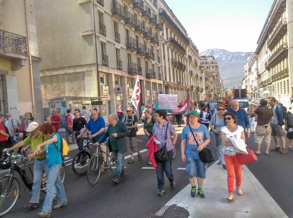Manifestation du 19 avril 2018 à Grenoble © Florent Mathieu - Place Gre'net