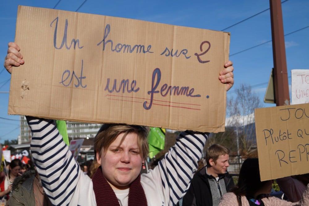 Manifestation lors de la Journée du Droit des femmes 2018 © Léa Raymond - Place Gre'net