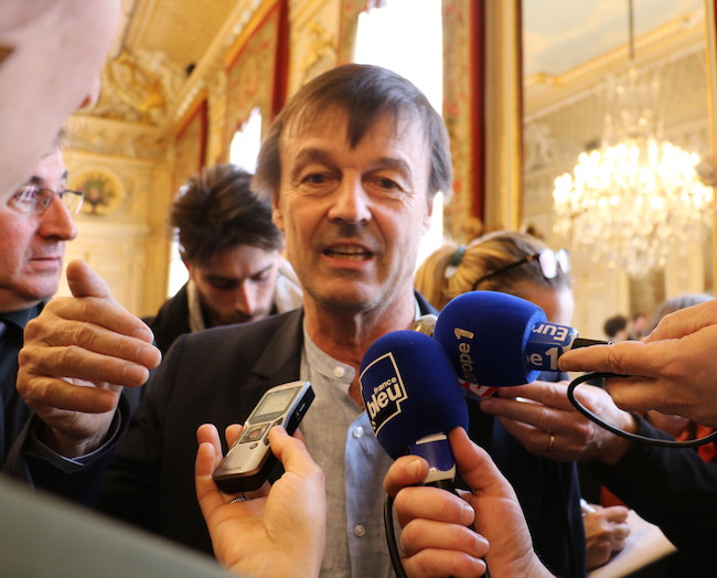 Nicolas Hulot à Grenoble le 13 avril 2018 pour saluer la feuille de route sur la pollution de l'air © Patricia Cerinsek - Place Gre'net