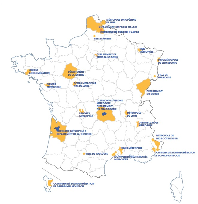Grenoble-Alpes Métropole figure parmi les 24 territoires de France sélectionnés pour accueillir de manière « accélérée » le dispositif Logement d'abord.Les territoires retenus pour accueillir le plan Logement d'abord. DR