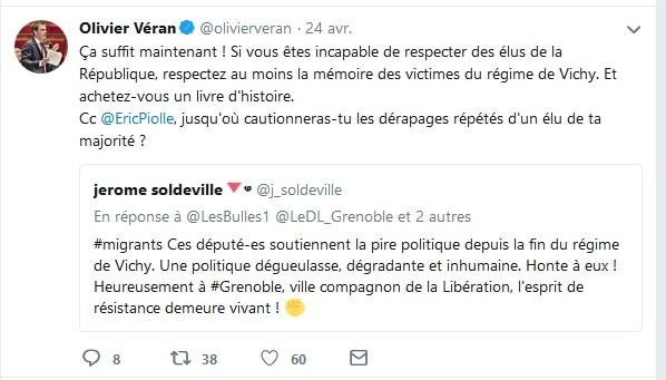 Olivier Véran réagit au tweet du conseiller municipal Jérôme Soldeville