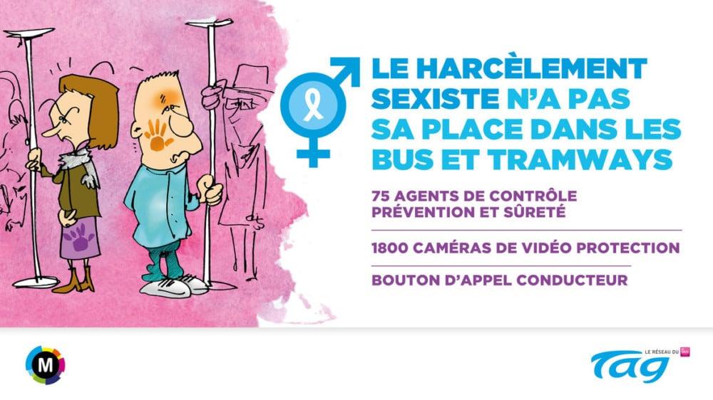 Visuel de la campagne contre le harcèlement sexiste © Tag