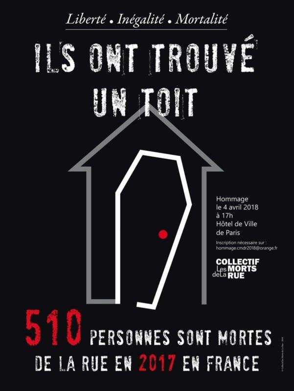 Visuel morts de la rue Paris. © Morts de la rue