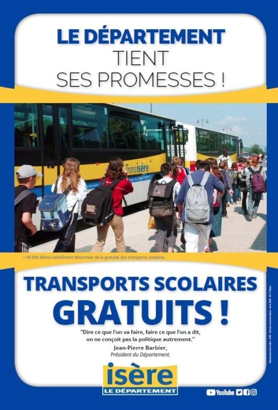 Affiche de bilan de mi-mandat du Département © Conseil départemental de l'Isère
