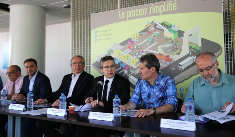 Conférence de presse des sept collectivités sur la mutualisation du traitement des déchets © Grenoble-Alpes Métropole