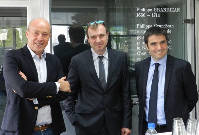 De gauche à droite : Laurent Caillat, Jérôme Lopez et Jean-Charles Colas-Roy