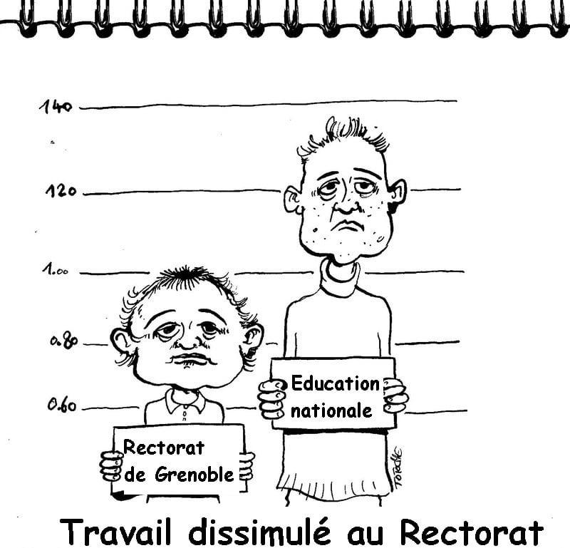 Visuel du tract de Sud Éducation Grenoble © Sud Éducation Grenoble