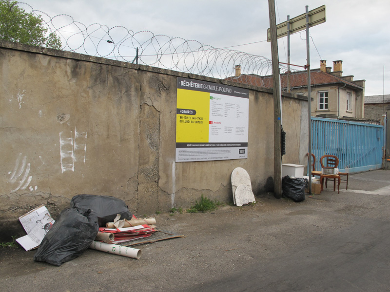 Déchèterie Jacquard, l'une des trois déchèteries que compte Grenoble © Séverine Cattiaux - Place Gre'net