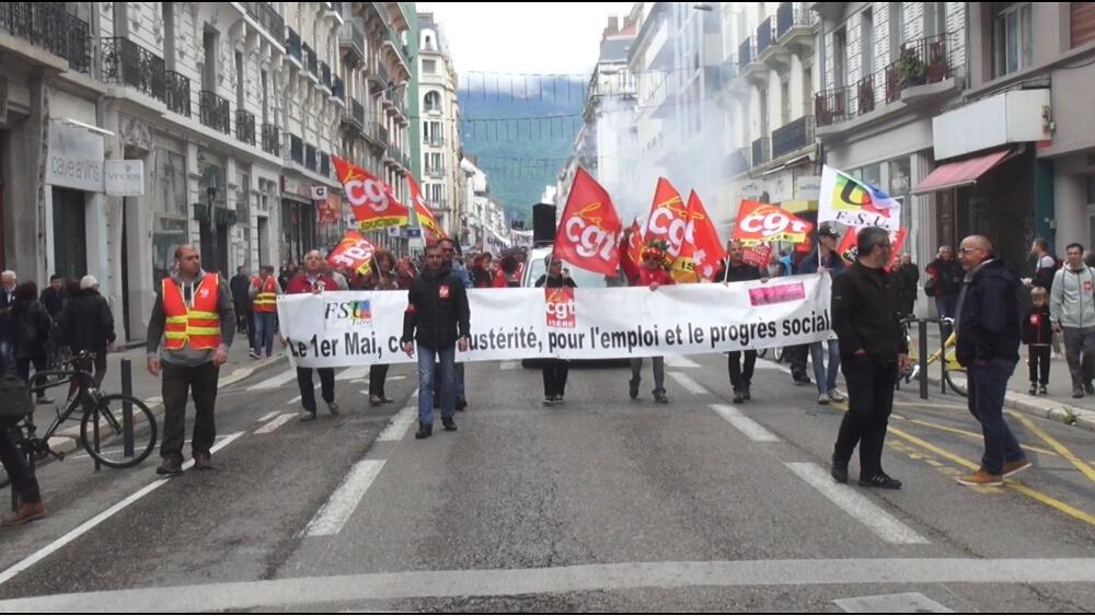 Défilé du 1er mai 2018 à Grenoble © Joël Kermabon - Place Gre'net