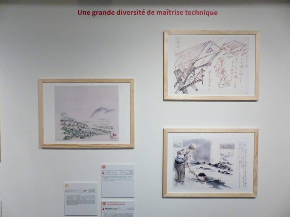Exemple de la diversité de maîtrise technique des dessins de l'exposition © Emilan Tutot - Place Gre'net