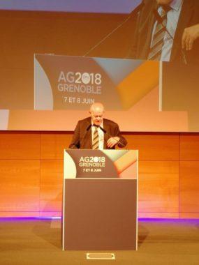 Alain Cacheux, lors de l'AG 2018 de la FOPH dont il est président © Emilan Tutot - Place Gre'net