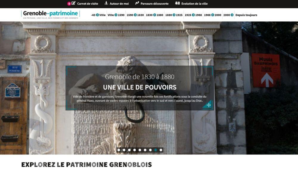 Page de garde du site Grenoble Patrimoine.
